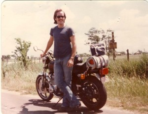 charlie spencer with motorcycle