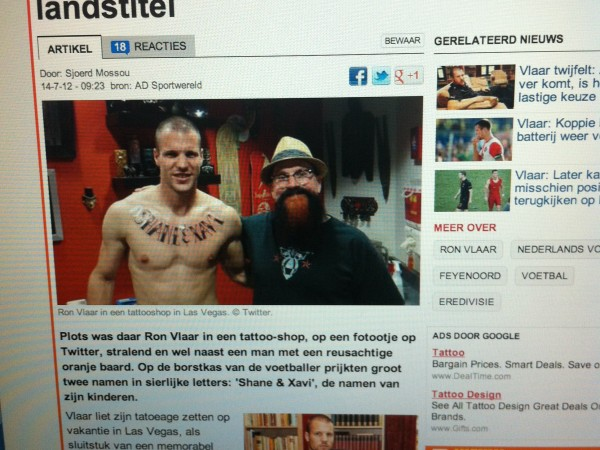 ron vlaar at studio 21 tattoo