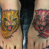 matching cat tattoos