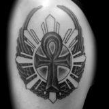 black and grey symbol tattoo