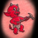 baby devil tattoo