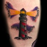 lighthouse color tattoo