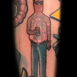 king of the hill hank color tattoo