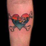 vegas strong heart tattoo