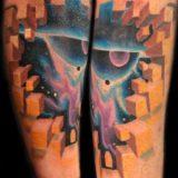 spacial cubism tattoo