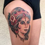 gypsy traditional tattoo