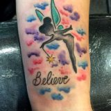 tinkerbell watercolor tattoo