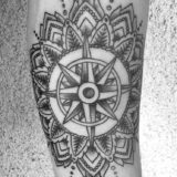 mandala black and grey tattoo