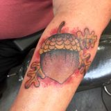 acorn color tattoo