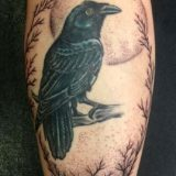 raven and moon tattoo