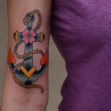 anchor on arm tattoo