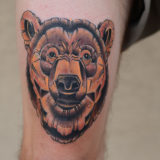stylized bear tattoo