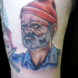 bill murray portrait tattoo