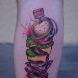 burger stack tattoo