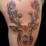 deer and rose tattoo