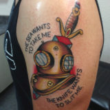 diver helmet tattoo