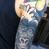 gorilla portrait tattoo