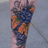 grapes and leaves tattoo