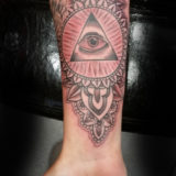 mandala eye of ra tattoo