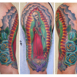 mother mary skeleton tattoo