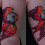 orange bird tattoo