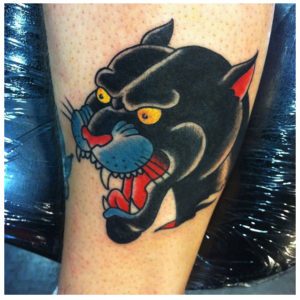 traditional panther tattoo
