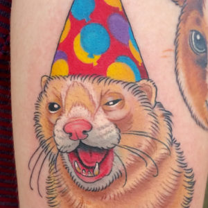 party ferret tattoo