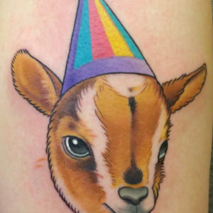 party goat head tattoo