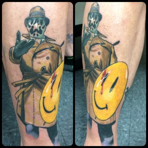 rorschach scarey man tattoo