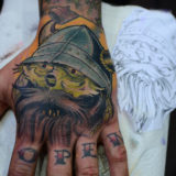 viking hand tattoo