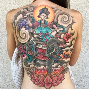 hindu backpiece tattoo