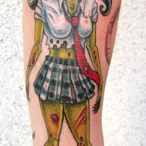 zombie school girl tattoo