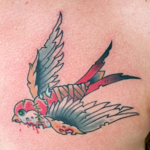 zombie swallow tattoo