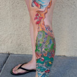 doctor seuss leg sleeve tattoo