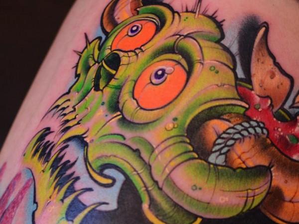 austin spencer taco head tattoo