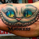 chessire cat tattoo