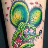rat fink cartoon tattoo