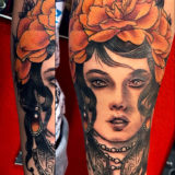flower girl tattoo