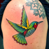 hummingbird color tattoo
