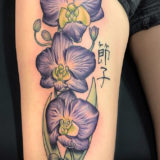 purple orchid tattoo