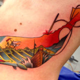 color whale tattoo