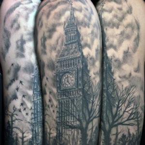 westminister big ben clock tattoo