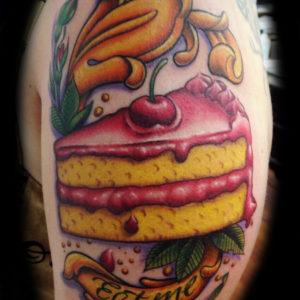 cake tattoo