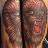 chewie head tattoo