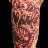 serpant skull tattoo