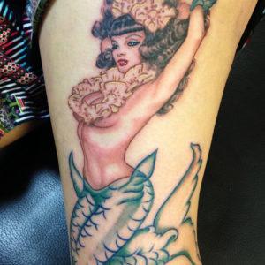 mermaid pin up tattoo