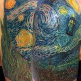 van gogh painting tattoo