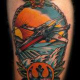 star wars fighter tattoo