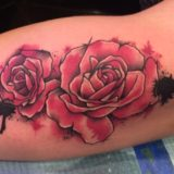 red roses watercolor tattoo