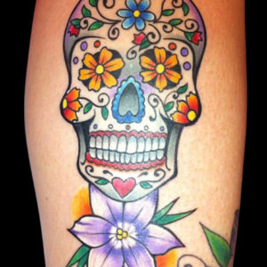 day of dead skull tattoo